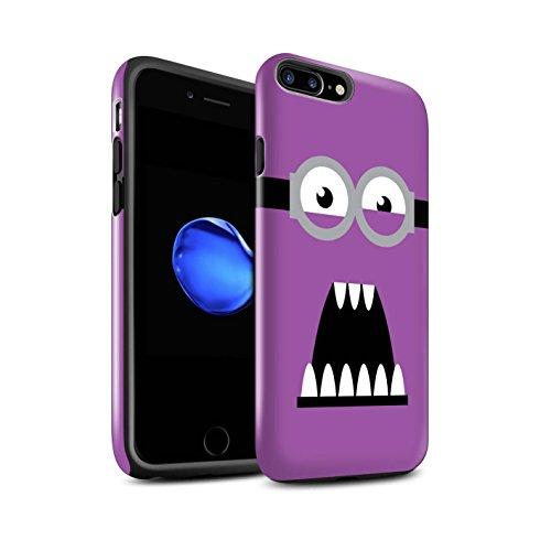 STUFF4 Glanz Harten Stoßfest Hülle / Case für Apple iPhone 7 Plus / Böse/Wütend Muster / Süßer Minion Inspiriert Kollektion (Despicable Me Iphone 4 Fall)