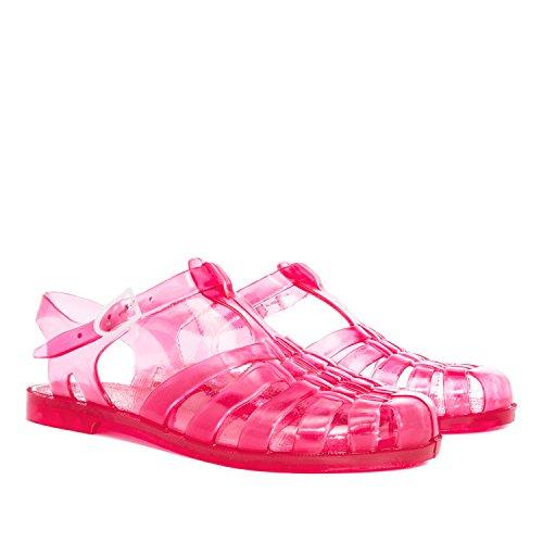 Andres Machado - AM188 - Sandalen Kunststoff Transparent Kunststoff Erdbeer