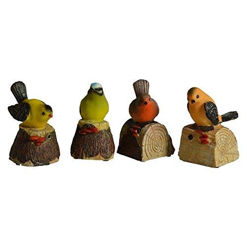 Zwitschernde Vogel Gartenfigur - Vogelstimmen Bewegungsmelder Spatzen