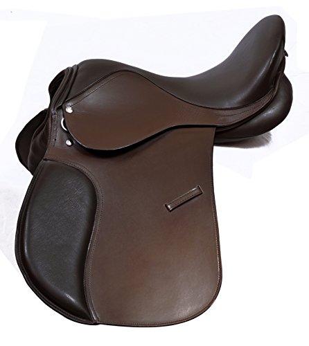pelle-multiuso-cavallo-comoda-sella-taglia-17-colore-nero-e-marrone-wide-fit-tack-equestrian-black-b