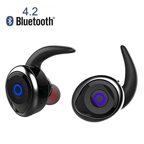 mit wasserdichtem Mikrofon Sports Mini Headset Bluetooth Handsfree Wireless Stereo Headset-Laufen, Radfahren, Gym, Reisen mehr,Black ()