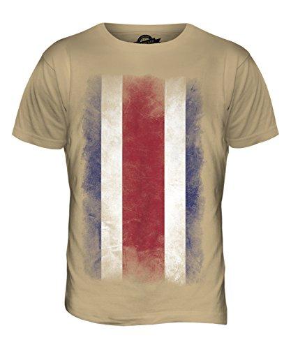 CandyMix Costa Rica Verblichen Flagge Herren T Shirt Sand