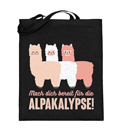 Chorchester Alpaka Fans - Bereit für die Alpakalypse - Jutebeutel (mit langen Henkeln) -