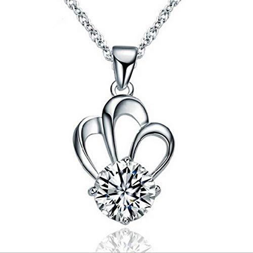TLLAMG Halskette Modeschmuck Großhandel 925 Sterling Silber Exquisite Krone Schlüsselbein Kette Anhänger Halskette