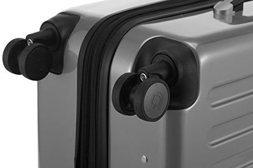 HAUPTSTADTKOFFER - Alex - NEU 4 Doppel-Rollen Großer Hartschalen-Koffer Koffer Trolley Rollkoffer Reisekoffer, TSA, 75 cm, 119 Liter, Silber - 6