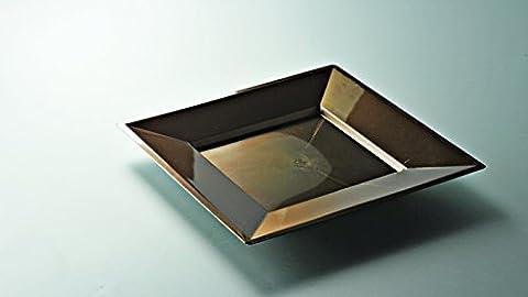 12 assiettes carre en plastique luxe petite taille -