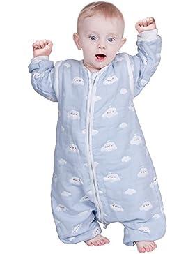 Lictin Baby Schlafsack Baby Schlafsack Split Leg mit abnehmbaren Ärmeln Blue Sky und White Clouds Muster für Säugling...