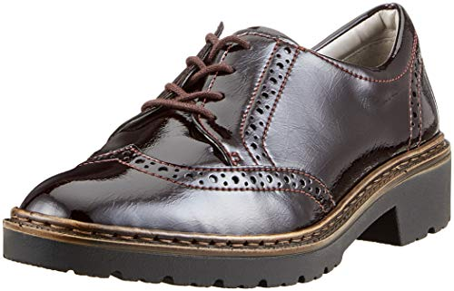Jenny PORTLAND, Damen Brogues, Rot (Bordo 17), 39 EU (6 UK)