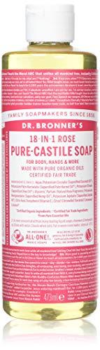 Dr. Bronner's Organic Pure Castile Liquid Soap, Rose, 16 oz by Dr. Bronner's