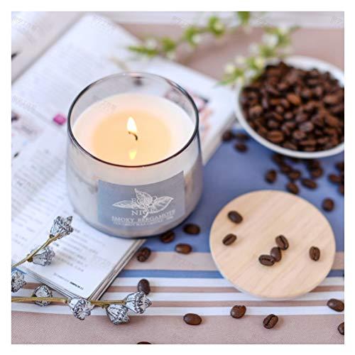 Supreme Lights Duftkerze im Glas Grau 100% Natur Kokosnuss Wachs Kerzen mit Deckel Aromatische Windlicht Geschenke für Familie oder Freundin (Smoky Bergamote)