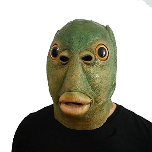 Latex Halloween Kostüm Maske Latex Spielzeug Tierkopf Maske Für Festival Parteien, Fisch