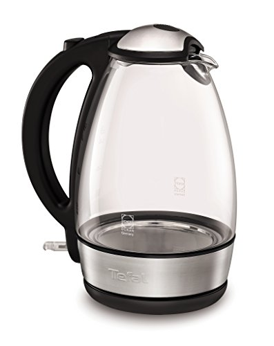 Tefal Glass Vision Hervidor de Agua, 2400 W, 1.7 litros, Negro, Acero Inoxidable, Transparente