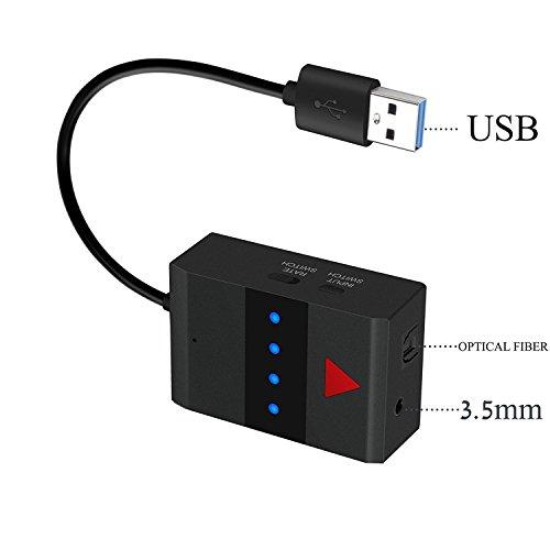 YETOR trasmettitore audio Bluetooth per Smart TV Xbox PS4 integrato a fibra ottica di ingresso coassiale, ingresso AUX ingresso può collegare Daul Bluetooth Headset minimo Lags(tx12s)