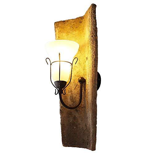 Landhausleuchte Dachziegel jede ein Unikat - Wandlampe mit original Nonnenziegeln, Glas der Wandleuchte weiß matt Dekor - Leuchte mediterran E14 max.40W Dachziegelleuchte