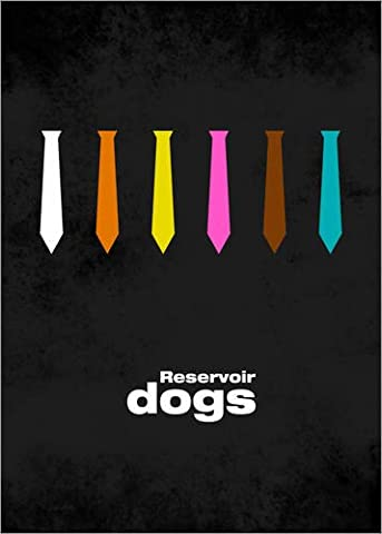 Poster 50 x 70 cm: Reservoir Dogs - Minimal Film Movie Tarantino Alternative de HDMI2K - reproduction haut de gamme, nouveau poster