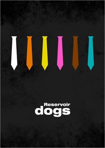 Stampa su legno 60 x 80 cm: Reservoir Dogs - Minimal Film Movie Tarantino Alternative (Tipo Movie Poster)