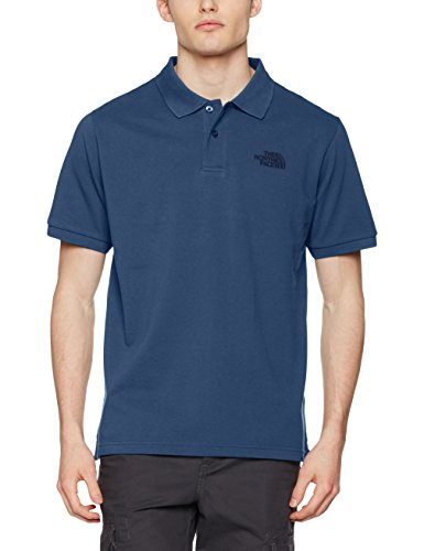 The North Face Herren Piquet Poloshirt Blau (Shady Blue)