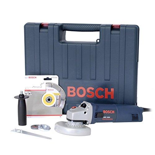 Winkelschleifer-125mm-Bosch GWS 1000Koffer + Diamant-Trennscheibe-Bosch 601828901