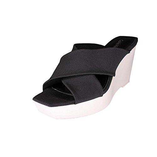 Calvin Klein Shyna Damen US 8 Schwarz Keilabsätze Sandale