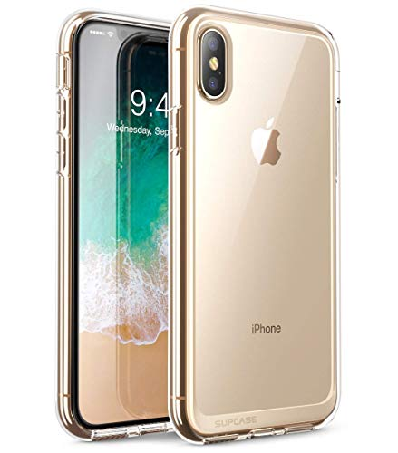 x Hülle Premium Case Hybrid Handyhülle Transparent Schutzhülle Backcover [Unicorn Beetle Style] für iPhone XS Max (6.5 Zoll) 2018 (Transparent) ()
