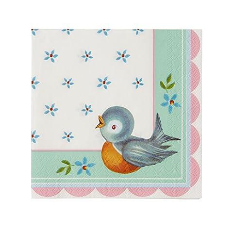 Baby On Board Bébé Douche Serviettes en papier, Lot de 20, multicolore