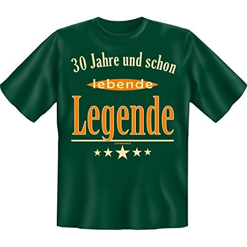 Spass T-Shirt 30 Jahre und schon lebende Legende Fb grün Dunkelgrün