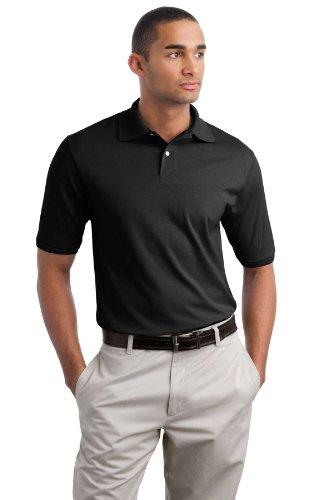Jerzees Herren Poloshirt Jet Black