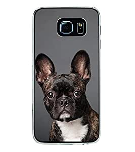 Fiobs Designer Back Case Cover for Samsung Galaxy S6 Edge :: Samsung Galaxy S6 Edge G925 :: Samsung Galaxy S6 Edge G925I G9250 G925A G925F G925Fq G925K G925L G925S G925T (Dog Puppy Black White Green Grass Case Cover)