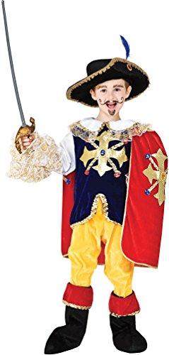 COSTUME di CARNEVALE da D'ARTAGNAN vestito per ragazzo bambino 7-10 Anni travestimento veneziano halloween cosplay festa party 8905 Taglia 10/XL