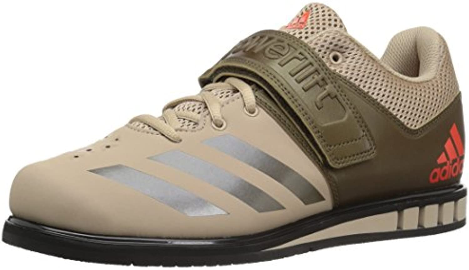 Adidas Men's Powerlift.3.1 Powerlift.3.1 Powerlift.3.1 Cross Trainer, Tech Beige Trace Olive nero, 4.5 Medium US | A Prezzi Convenienti