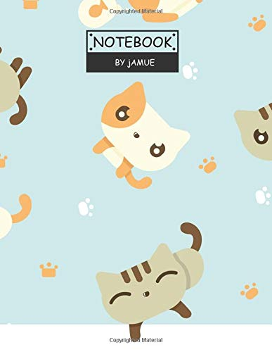 Notebook: Cute cat duo blue cover and Lined pages, Extra large (8.5 x 11) inches, 110 pages, White paper (Cute cat duo on blue notebook, Band 3) Duo Laptop Notebook
