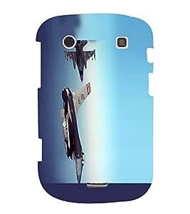 Fuson Designer Back Case Cover for BlackBerry Bold Touch 9900 :: BlackBerry Dakota :: BlackBerry Magnum (Missile War Plane Fighter plane Blue Sky clear Sky)