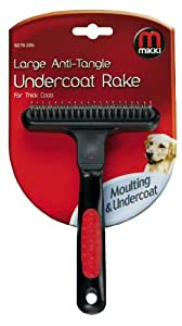 Mikki Grooming Anti-tangle Undercoat Rake, Soft Grip Handle, Large