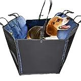 Hund Autositzbezug, Hundehütte Für Haustier Kind mit Haustier Sicherheitsgurt Führen und Aufbewahrungstasche Wasserdicht Rutschfest, Passt Alle Autos LKW SUV Blau (größe : M-165 x 143 x 50cm)