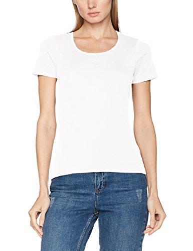 s.Oliver Damen T-Shirt 4899324306, Gr. 38, Weiß (White 0100)