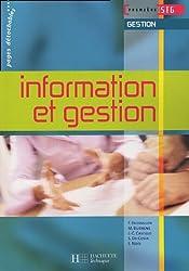 Information et gestion 1e STG Gestion