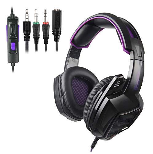 Transfer Control (Stheanoo Kopfhörer/Gaming-Headset für SA920 Wired Gaming 3.5 Kopfhörer mit Mikrofon Kopfhörer + One-Ttwo Audio Transfer Verkabelung für PS4)