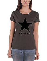 David Bowie T Shirt Blackstar nouveau officiel Femme Skinny Fit Gris