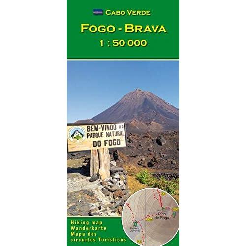 Cabo Verde: Fogo, Brava 1 : 50000 (Carte de randonnée et de loisirs du Cap-Vert)