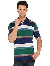 Donear NXG Green Colour Striped T-Shirt