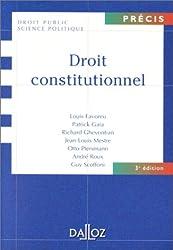 Droit constitutionnnel, 3ème édition