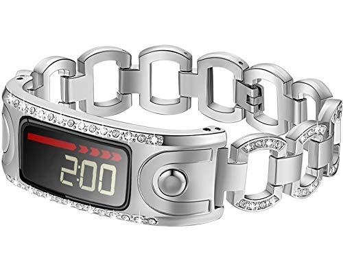 Ersatzband für Armbanduhr Garmin Vivofit und Garmin Vivofit 2, nicht für Garmin Vivofit 3/HR/JR, B00G01-Silver
