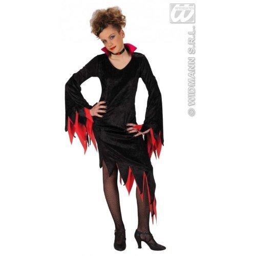 Kinderkostüm Dark Mistress rot Gr. 128