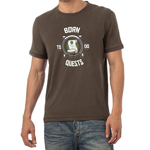 TEXLAB - Born to do Quests - Herren T-Shirt Braun