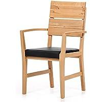 Alkove - Hayes – Massivholzsessel mit gepolsterter Sitzfläche, Wildeiche