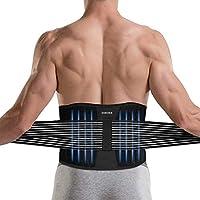 Lumbar para la Espalda, DINOKA Soporte Lumbar para Aliviar el Dolor y Lesiones, Cinturon Lumbar Prevenir Daños, Faja lumbar para la espalda para hombres/mujer con tirantes
