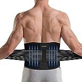 DINOKA Rückenbandage Rücken Gurt für Männer und Frauen, Rückenstützgürtel für Lindert Schmerzen, Verstellbarer Taillen Trimmer Gürtel Doppelverschluss, Lendenwirbelstütze,für den Perfekten Sitz