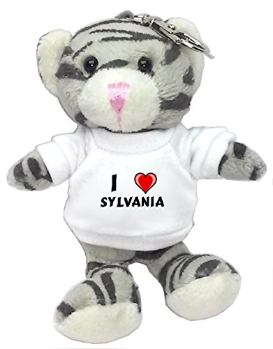 gray-cat-plush-keychain-with-i-love-sylvania-first-name-surname-nickname