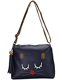 DESENCE Women & Girls Stylish Sling Bag/Bags For College/School/Travel/Kids - PU (Leather) - Bag 5 Liters