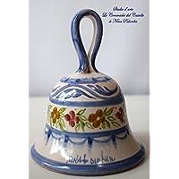Campanella in Ceramica Linea Fiori misti Realizzata e dipinta a mano Le Ceramiche del Castello - Made in Italy